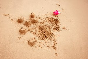 Child`s Sand Castles