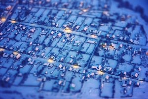 Aerial View on Little Winter Town