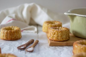 Mini Coconut-Orange Bundt Cakes