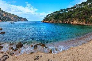 Summer sea coast view (Spain).