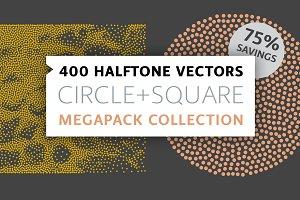 400 Vectors | Circle+Square Megapack