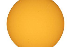 Sun thru telescope, transparent PNG