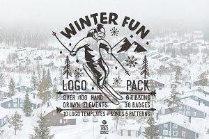 Winter Fun, Adventure Logo Pack