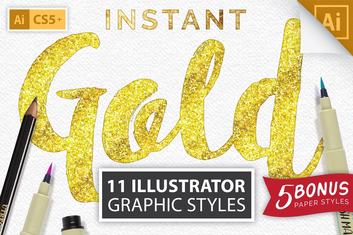 Instant Gold Foil Effect + More
