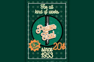 power tools store poster