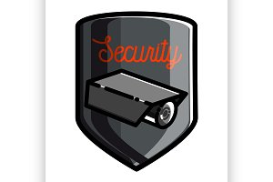 Color vintage security emblem