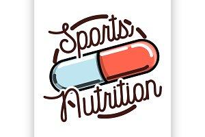sports nutrition emblem