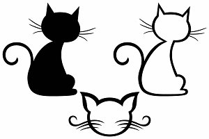 Black cat SVG