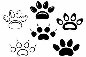 Animal paw prints SVG