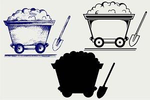 Mining cart and shovel SVG