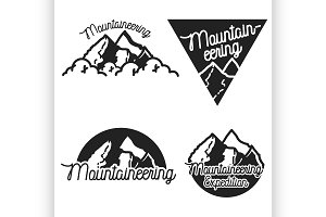 Vintage mountaineering emblems