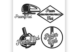 Vintage power tools store emblems