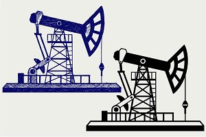 Concept of oil industry SVG DXF