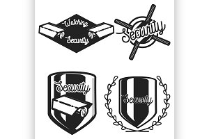 Vintage security emblems
