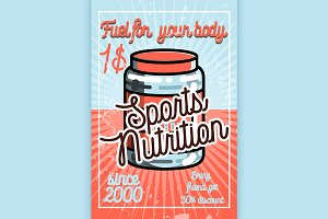 Vintage sports nutrition poster