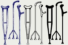 Set crutches