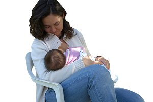 Breastfeeding mother transparent PNG