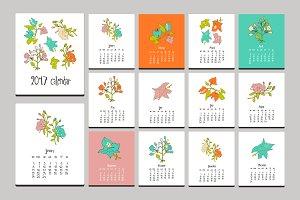 Floral calendar. 2017