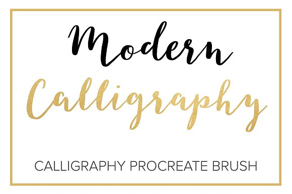 Modern calligraphy procreate brush brushes on creative