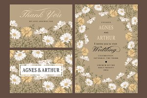 Wedding Flowers Chamomile Card Frame