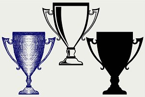 Award trophies SVG