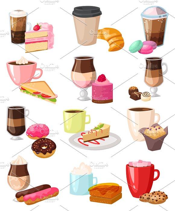 Caffeine Cappuccino Coffee Snack Set