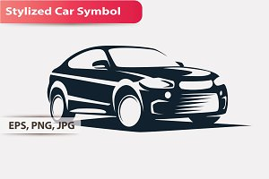 Stylized car Symbol