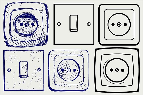 Switch And Socket SVG DXF