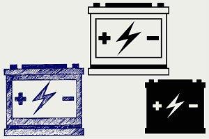 Car battery SVG