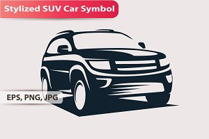 Stylized SUV Car Symbol