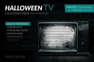 Halloween TV – HTML Countdown Theme