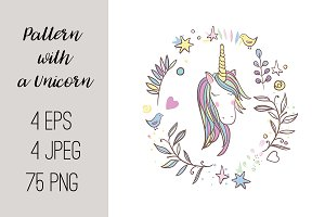 №216 Pattern with a Unicorn