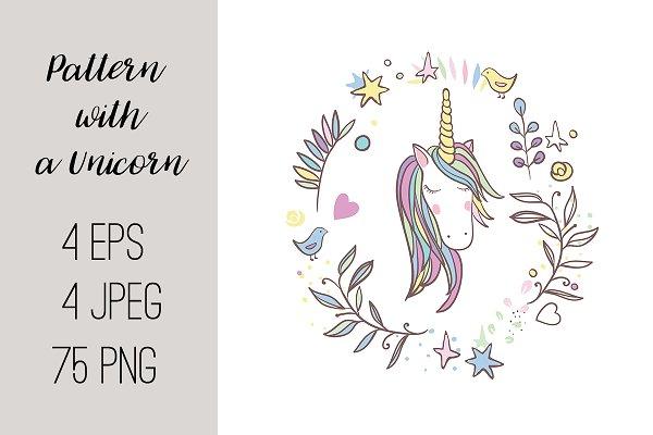 №216 Pattern with a Unicorn