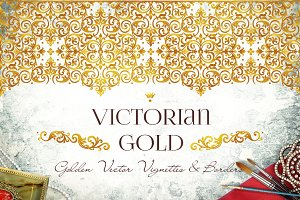 Vector Kit Of Victorian Gold. Vol.1