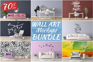 Wall Art Mockups BUNDLE V9