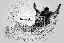 Silhouette of a football player NFL