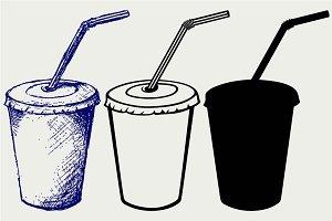 Cool drink cola SVG