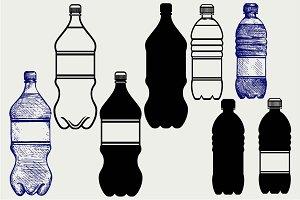 Set of water bottles SVG