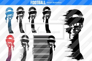 Silhouette of a football helmet NFL
