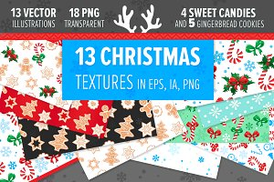 Vector CHRISTMAS SEAMLESS textures