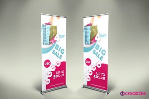 Shopping Mall Roll Up Banner
