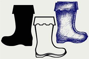 Rubber boots SVG
