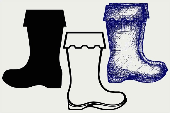 Rubber Boots SVG DXF