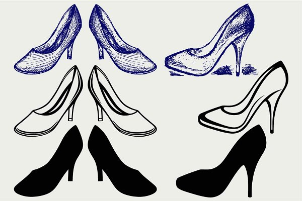 High heel shoes SVG