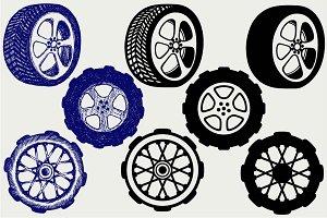 Wheels automobile SVG