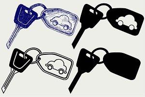 Car keys SVG
