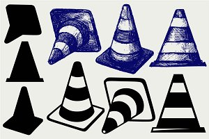 Traffic cones SVG