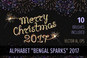 ALPHABET BENGAL SPARKS / BRUSHES /