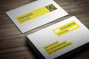 Creative Dotted Business Card