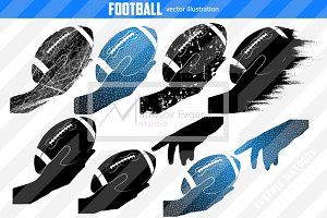 Silhouettes of a football ball